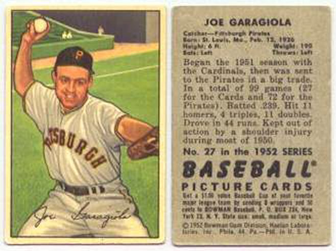 1952 Bowman Baseball Vintage Baseball Card Price Guide